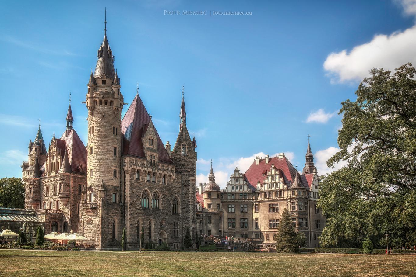 Górny Śląsk - pałac w Mosznej
