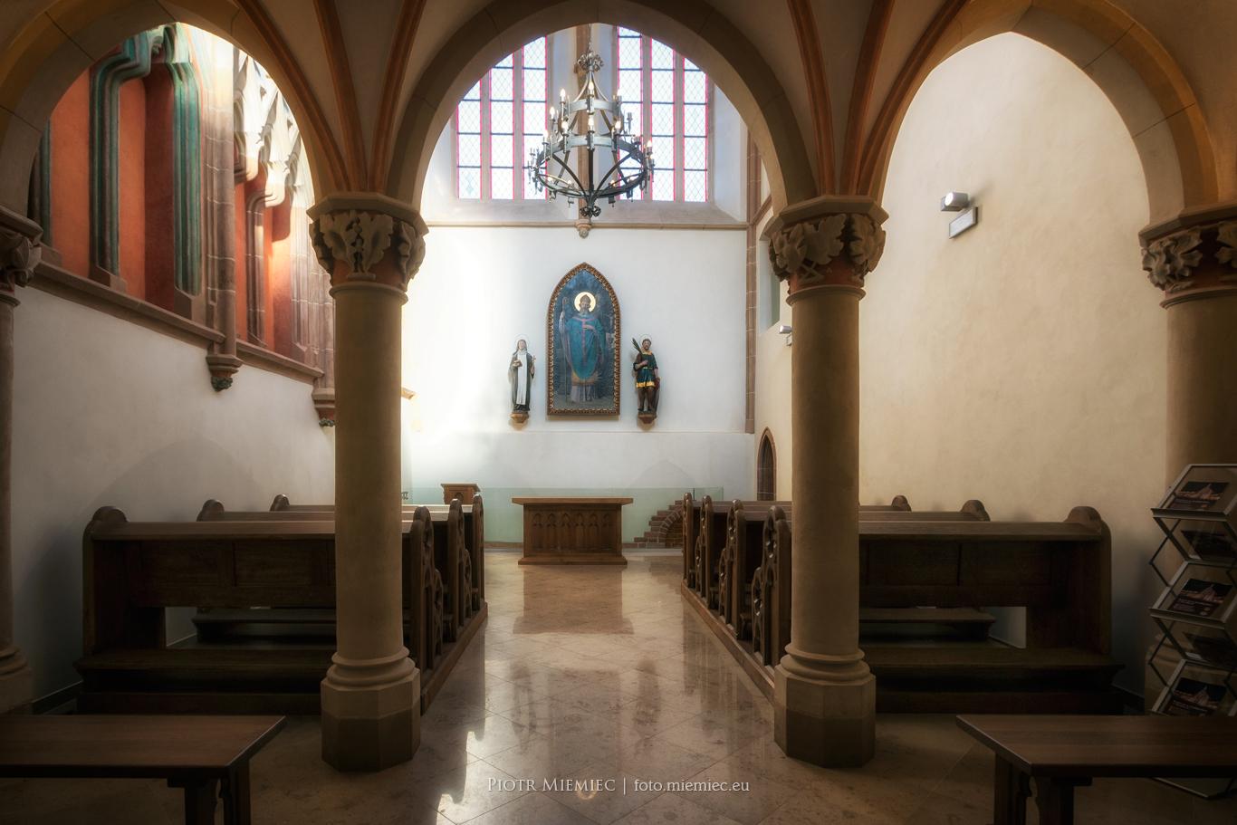 Zamek w Raciborzu - Wnętrze zamkowej kaplicy po remoncie z 2013 r.
