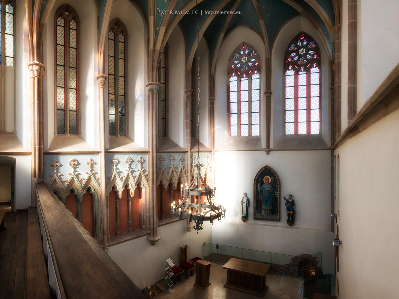 Zamek w Raciborzu - wnętrze kaplicy.