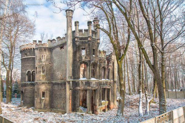 Ruiny pałacu w Miechowicach