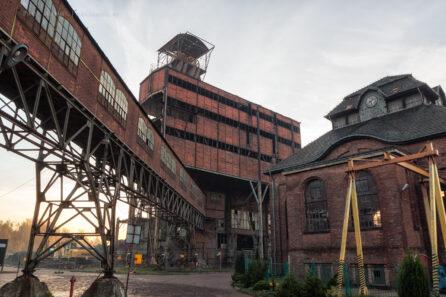 Rozbiórka nadszybia kopalni Ludwik