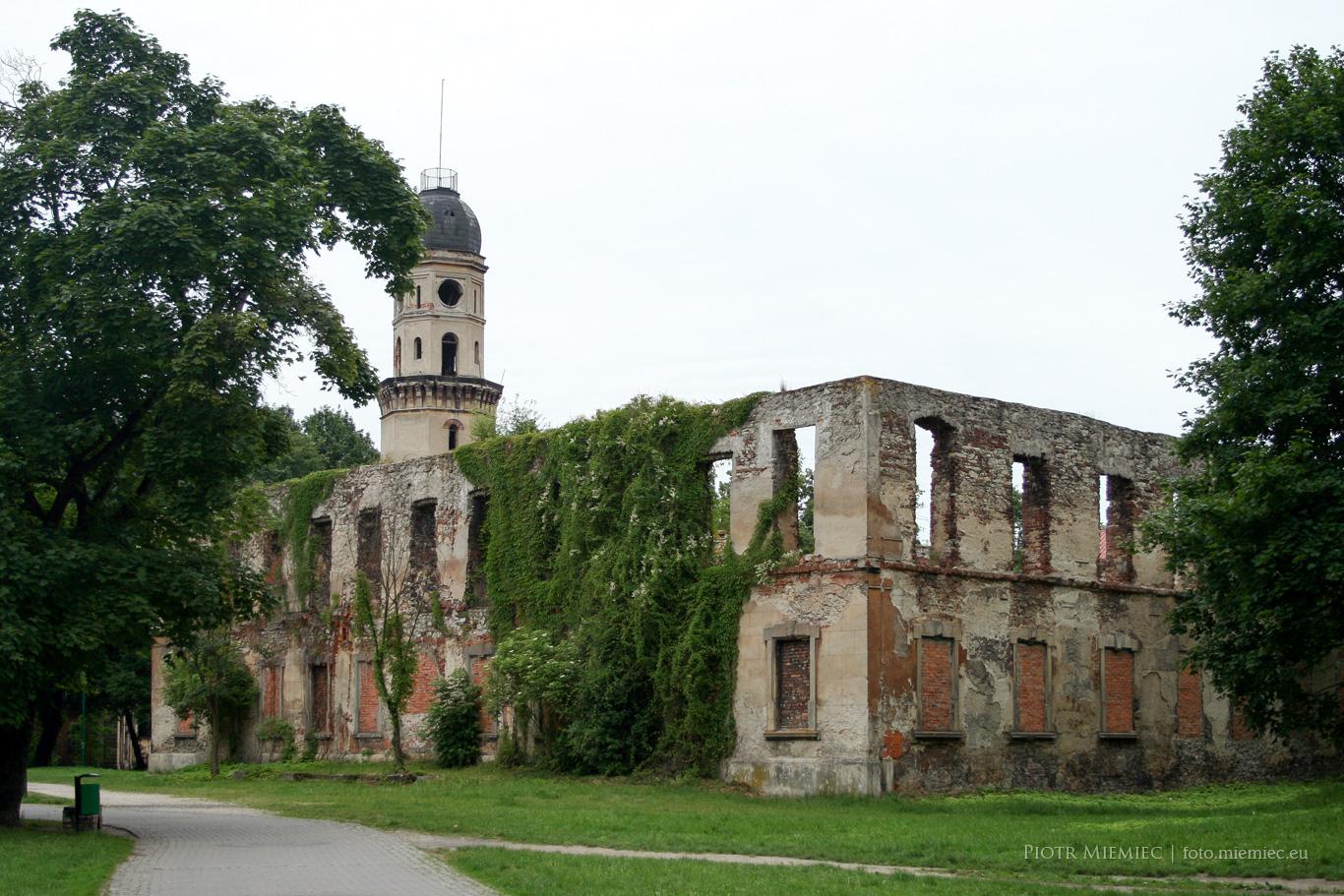 Srzelce Opolskie ruiny zamku