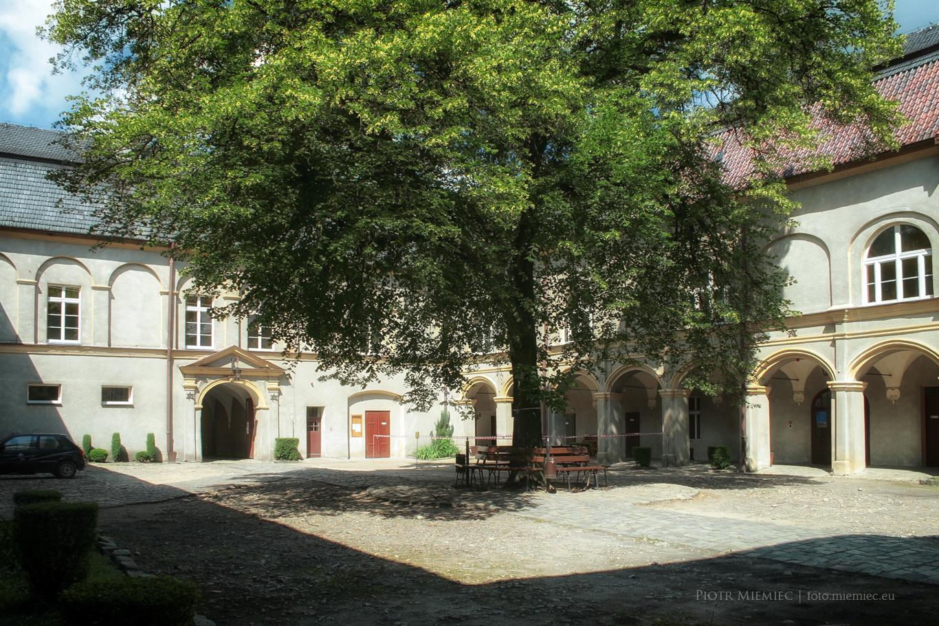 Zamek w Krapkowicach dziedziniec