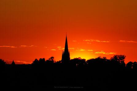 Zachód słońca – Mikulczyce 2005