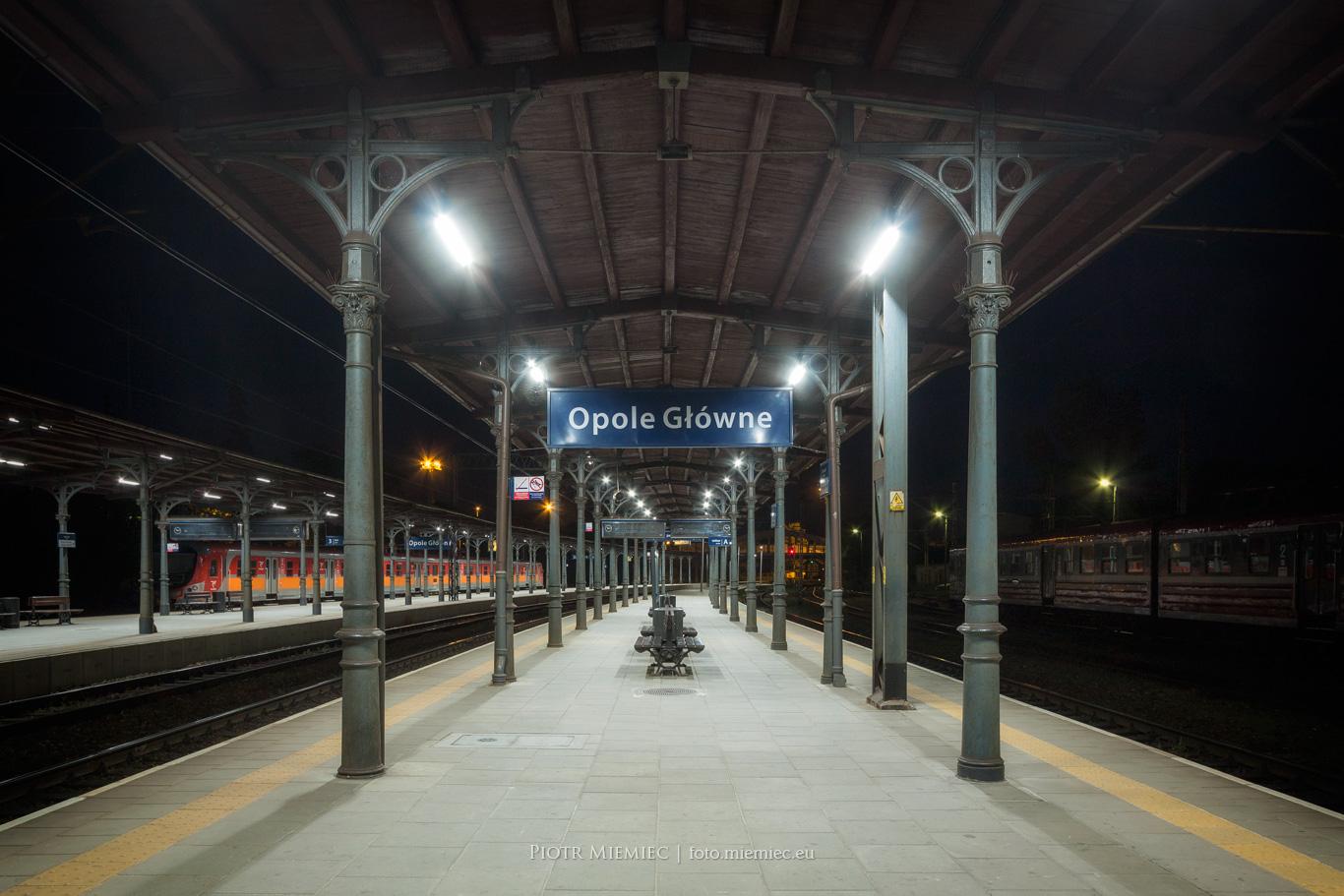 Opole Dworzec kolejowy peron