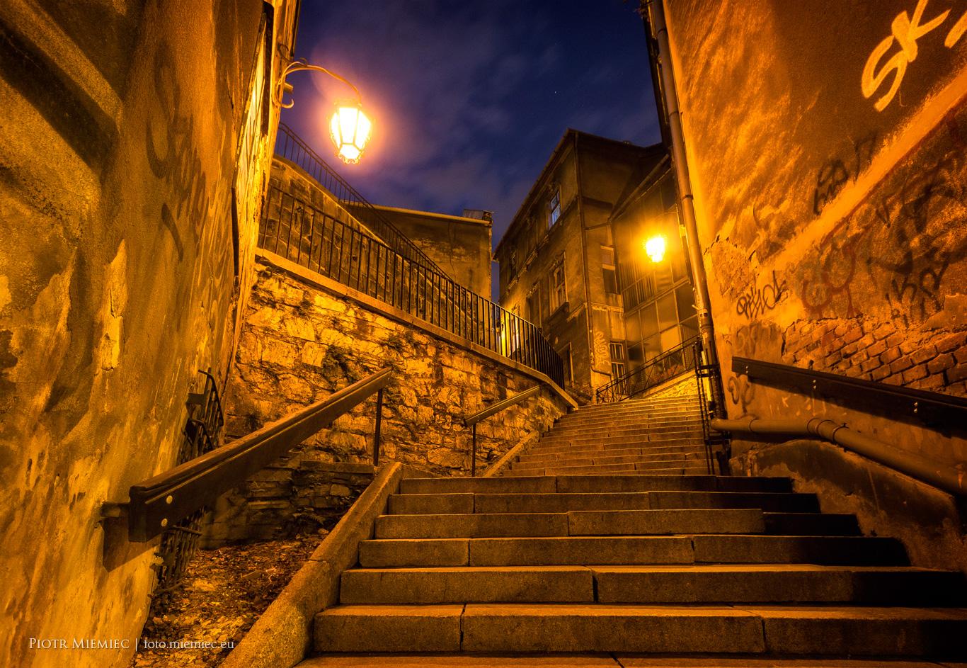 Bielsko - wieczór na starym mieście