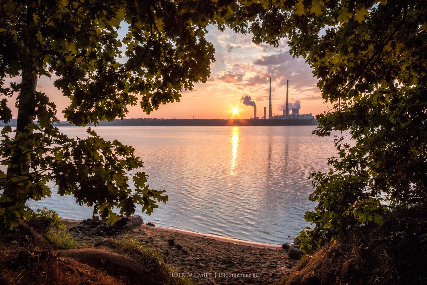 Zalew Rybnicki – wschód słońca