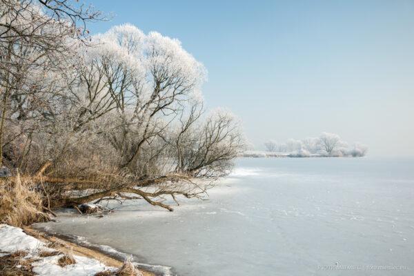 Zima nad jeziorem Goczałkowickim