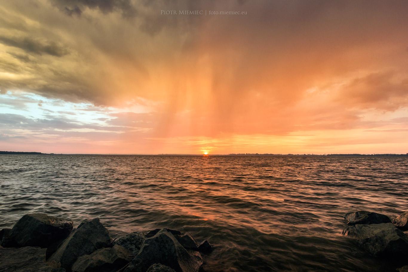 Jezioro Goczałkowickie zachód słońca