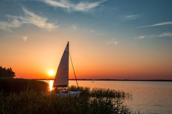 Jezioro Turawskie zachód słońca