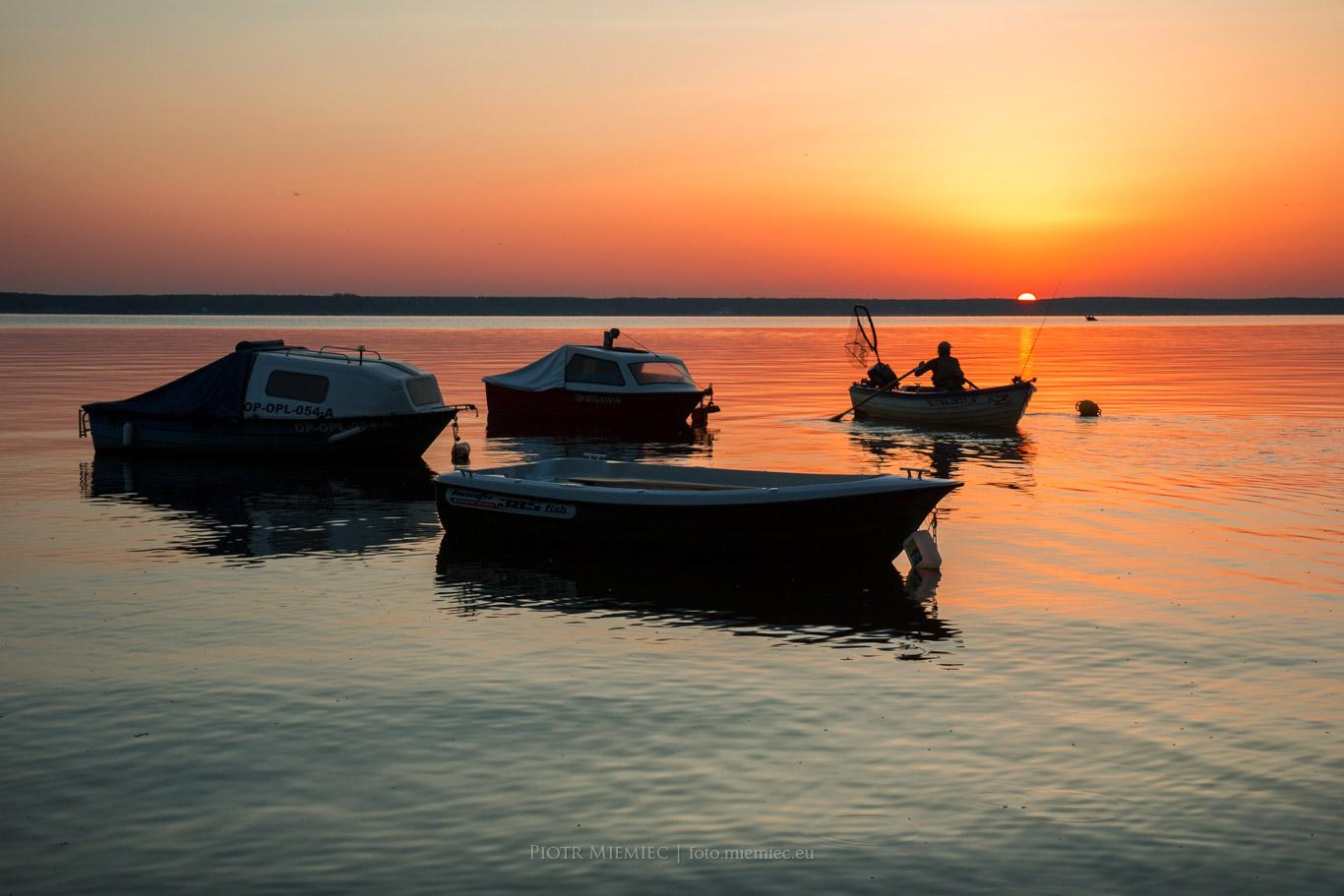 Jezioro Turawskie wschód słońca